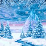 backdrop store snowfall backdrop