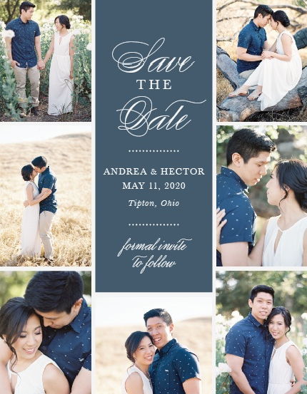 personalized wedding save the dates