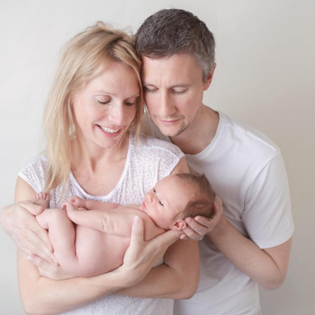 parents' arms